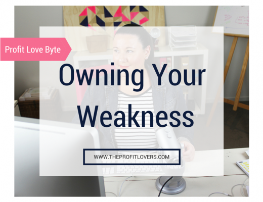 Owning Your Weakness
